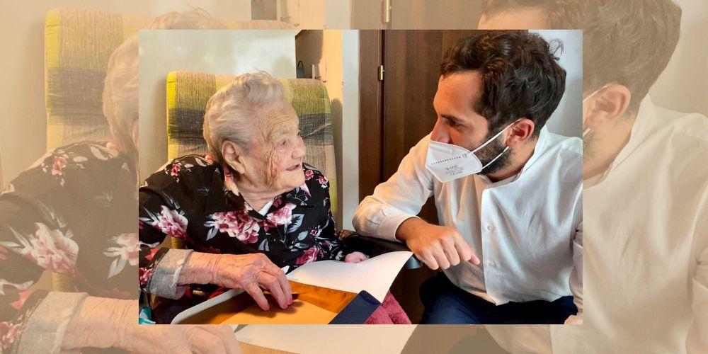 Una vita sulle colline cesenati, la signora Lina Arrigoni festeggia il secolo di vita
