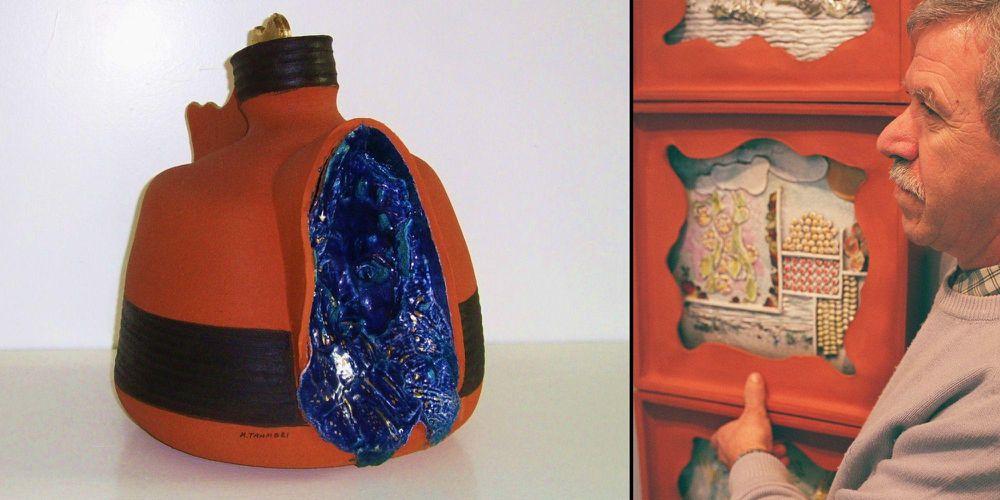 Sculture e ceramiche: il faentino Mauro Tampieri in mostra alla Galleria Pescheria di Cesena
